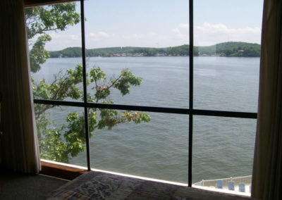 bedroom view of lake from window